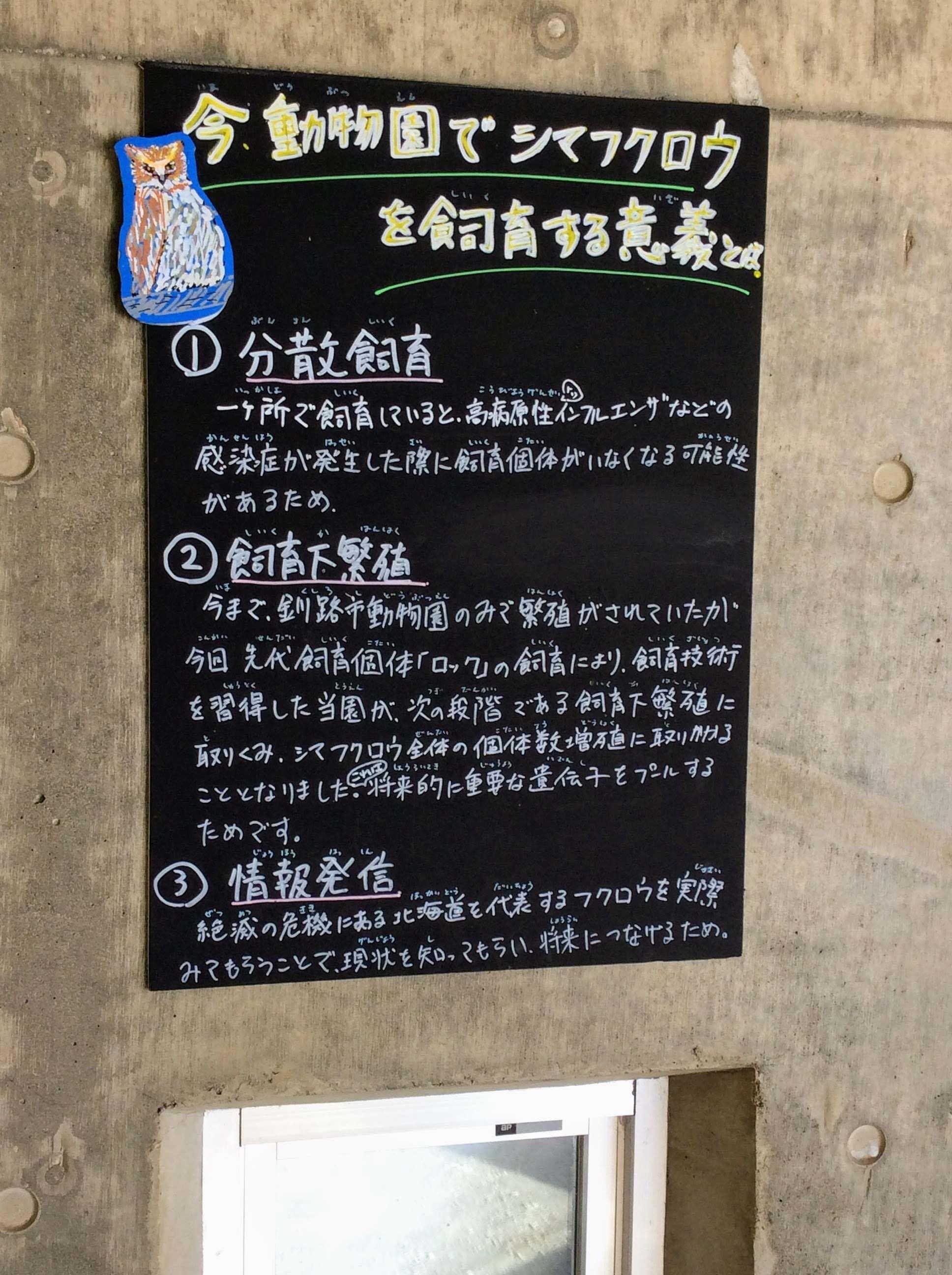 旭山動物園 「今動物園でシマフクロウを飼育する意義とは」